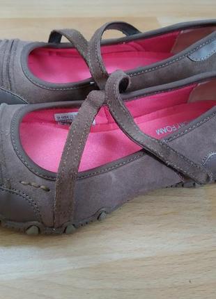 37 o. skechers супер комфортные туфли балетки мокасины