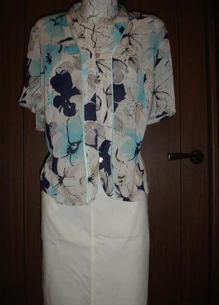 Фирменная блузка шифон 50-52 размер