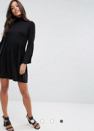 Чёрное платье гольф asos
