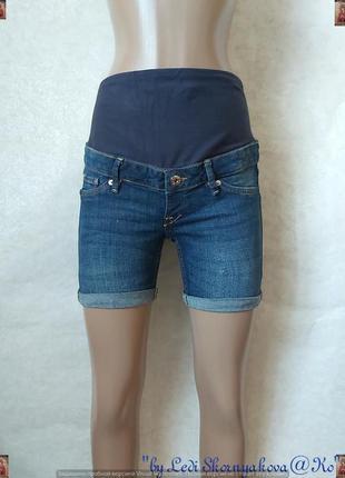 Фирменные h&m джинсовые шорты для девушек в положении с трикотажной накладкой, размер с-ка