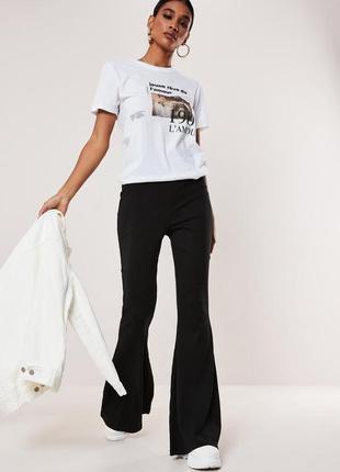 Шикарні штанці missguided / брюки клеш/ кретро брюки расклешенные