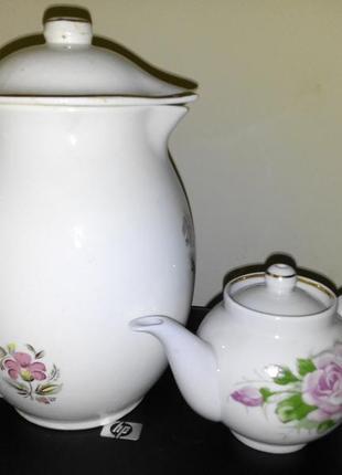 Набор кувшин (буды) и чайничек заварочный (дулево) винтаж