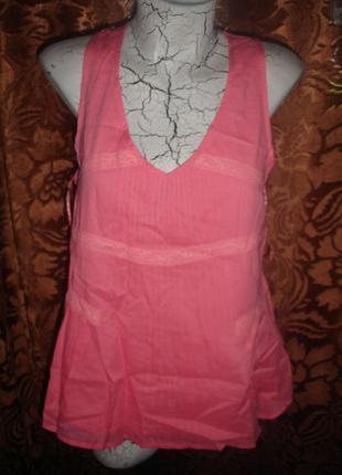 Стильная фирменная (англия) летняя коралловая блузка на наш 48 размер