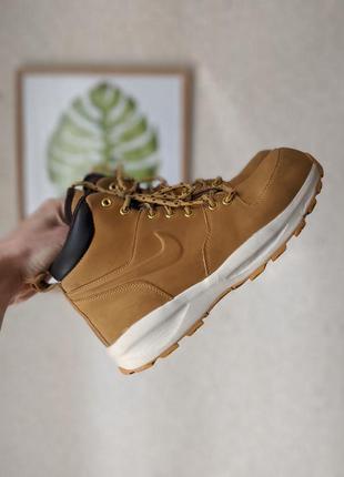 Кожаные демисезонные ботинки nike manoa