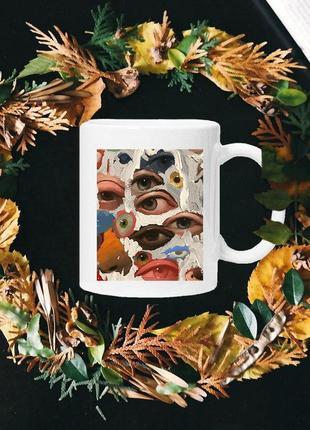 Чашка с принтом - глаза