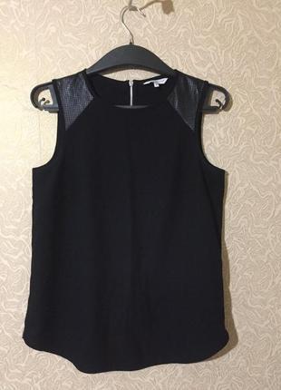 Фирменная чёрная блуза new look, размер s