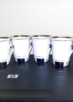 Набор чашечек кофейных городницкий фарфоровый завод 70гг винтаж