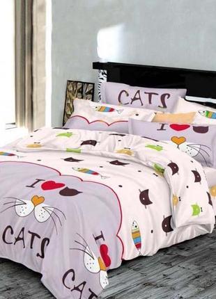 Котики, киця, постільна білизна