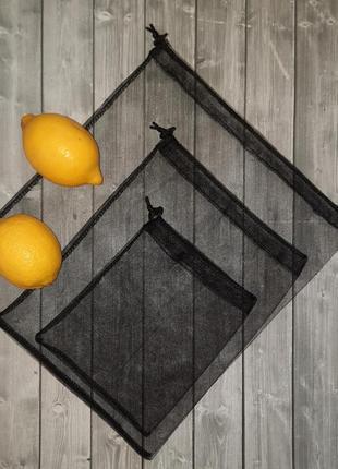 Набор из 3 шт эко мешочков, фруктовок