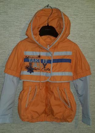Легкий двухслойный плащ куртка ветровка на девочку фирмы gk