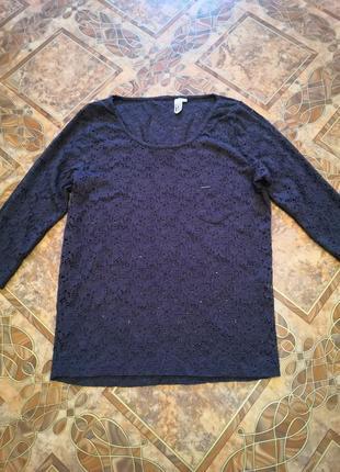 Круживная кофточка, блуза, размер l