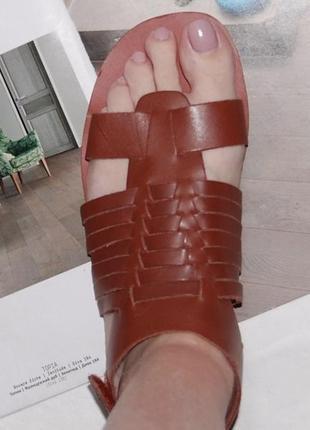Босоножки кожа кожаные 39 р 25.5 см