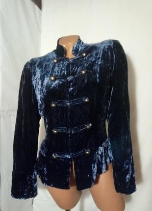 Бархатный пиджак жакет, в стиле бохо,винтаж