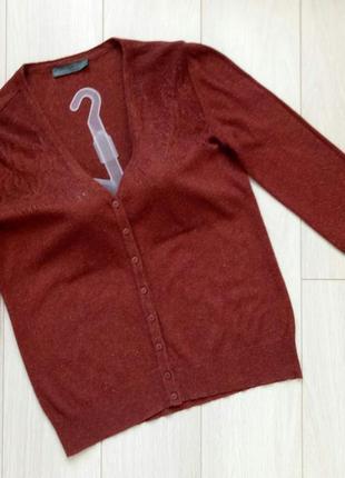 Кардиган коричневый, рыжий