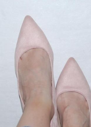 Туфли лодочки розовые пудровые 39 р 25 см