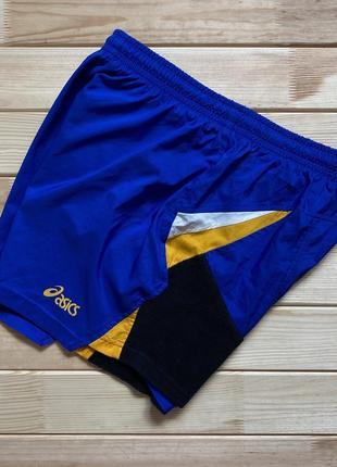 Беговые, спортивные шорты asics vintage винтаж