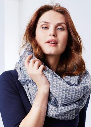 Красивая шаль-снуд-шарф  для создания стильного образа  от тсм tchibo (чибо), германия