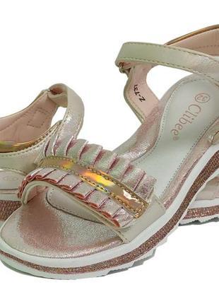Босоножки сандали босоніжки летняя літнє обувь взуття девочки дівчинки clibee клиби 737