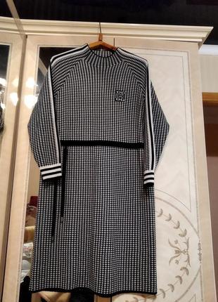 Платье с кашемиром
