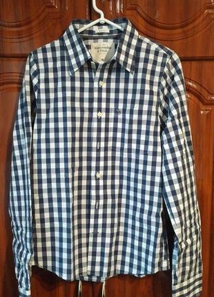 Рубашка в клетку abercrombie & fitch