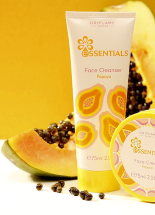 Очищающее средство для лица папайя essentials 36195 орифлейм oriflame оріфлейм