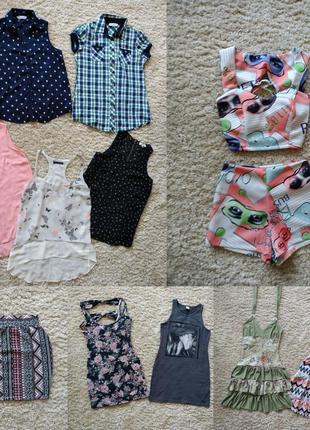 Пакет вещей одежды на миниатюрную девушку либо подростка