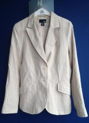 Льняной пиджак h&m