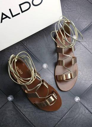 Aldo оригинал кожаные сандалии гладиаторы на шнуровке