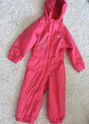 Комбинезон из водонепроницаемой ткани на флисе trespass kids на 1,5-2 года