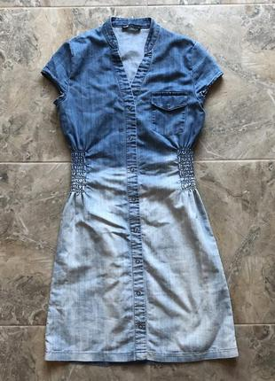 Платье сарафан джинсовый oodji