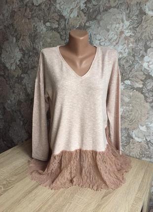 Zara s кофта, блузка/ блуза, туника, свитер