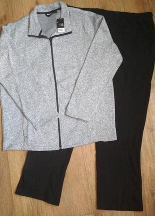 Батал! костюм комплект кофта, флисовые штаны livergy, crivit, р. 60-62, есть замеры