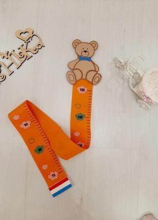 Ростометр измеритель роста ребенка метр зрістометр мишка