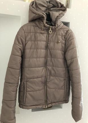 Куртка ветровка дутик курточка с капюшоном деми легкая
