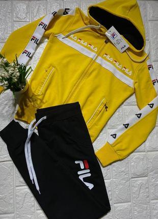 Женский желтый 💛 спортивный костюм в стиле fila