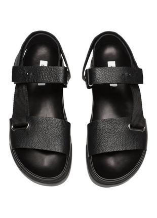 Кожаные сандалии h&m studio collection !