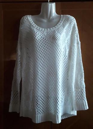 George р.20  красивый свитер в крупную сеточку - узор