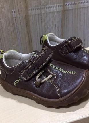 Кожаные мокасины туфли сlarks размер 7g по стельке 14,5см