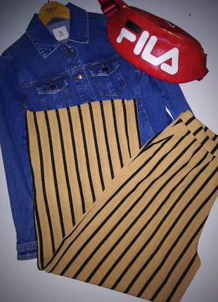 Красивые брюки в полоску палаццо от zara