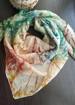 Мраморный шарф косынка платок