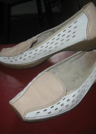 Туфли мокасины ортопедические натуральная кожа gabor