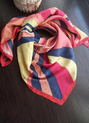 Шелковый платок косынка шарф шаль