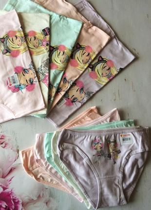 Комплект белья для девочки, майка и трусики донелла