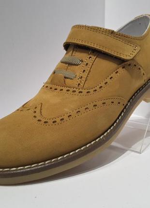Распродажа !!! tiflani кожаные туфли нубук для мальчика р.33