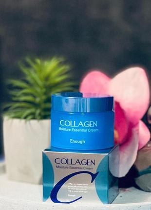 Крем для лица с коллагеном увлажняющий enough collagen moisture essential cream - 50 мл