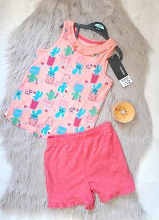 Пижама деми летняя легкая шорты и майка george