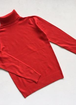 Новый стильный гольф натуральная ткань красный