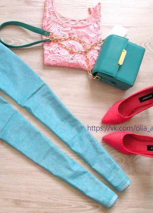 Узкие джинсы на высокой талии с пропиткой