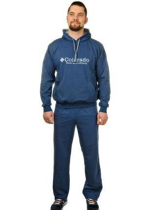 Мужской спортивный костюмы из трикотажа c карманом кенгуру colorado (2295.1)