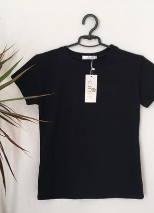 Новая качественная коттоновая черная футболка